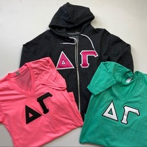 Delta Gamma Sweatshirt & Tshirt Bundle Sz XS